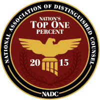 National Association of Distinguished Counsel - Nation's Top One Percent - 2015